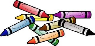 Crayons in many colors